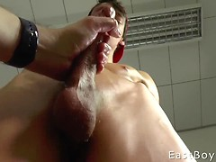 Handjob in our office - Cumshot