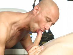 Horny office boy gets stripped & fucked raw by his dirty-minded boss! HD