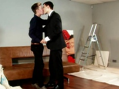 Reece Ryder And Lucas Davidson Break In A New Couch At The Dream Boy Hotel