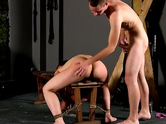 Cristian gets his tender arse beaten before Aiden fills it with his hard cock