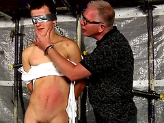 New boy Brodie gets a cock stroke like no other from master of cock play Sebastian