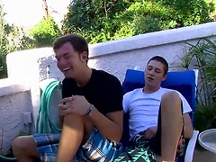 Sexy college boy Wesley Marks hooks up with horny friend Micah Andrews in secret!