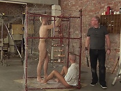 Deacon becomes a tool for sadistic Sebastian, teaching prisoner Kenzie a lesson - Our 500th scene!