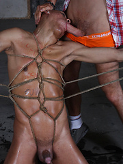 Bound, spat on and forced - Gay boys pics at Twinkest.com