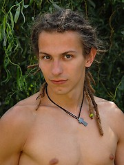 Young rasta boy relaxing in the garden - Gay boys pics at Twinkest.com