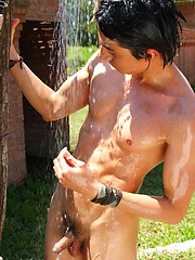 Wet twinks brandishing their hard-ons in the sun - Gay boys pics at Twinkest.com