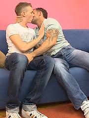 Yummy tattooed boy handles old gay meat - Gay boys pics at Twinkest.com