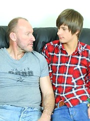 Twink gets a real wild anal fucking from older man