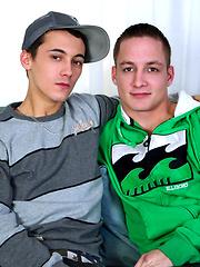 Cute twinky-boy Xavier Powell and his boyfriend Symon Boisdur