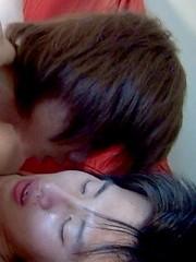 Tsuyoshi grabs his boyfriend and begins to kiss and rub him