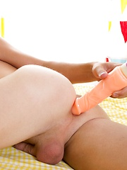 Twink dildo play is so hot to watch!