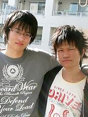 Cute japanese boys barebacking
