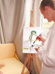 Smooth gorgeous boys and painting - Gay boys pics at Twinkest.com