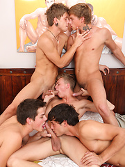 Young Cockyboys star Max Ryder in action with the Belami boys KinkyAngels - Gay boys pics at Twinkest.com