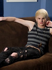 Brant Meyers is new HelixStudio blonde emo boy