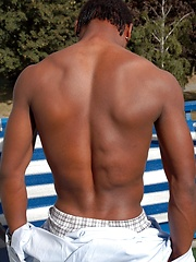 Handsome black boy Jerome shows off his assets - Gay boys pics at Twinkest.com
