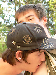 Two gay boys have outdoor oral and anal - Gay boys pics at Twinkest.com