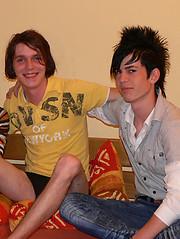 HMBoys hot threesome make their marks - Gay boys pics at Twinkest.com