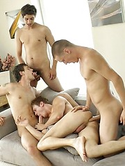 Marcel Gassion group fuck scene with Alec Rothko, Marco Bill and Paul Valery - Gay boys pics at Twinkest.com