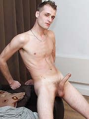 Jamie Ryan arrives for an interview and a solo cock stroking session for the guys - Gay boys pics at Twinkest.com