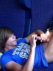 Boys having fun in train - Gay boys pics at Twinkest.com