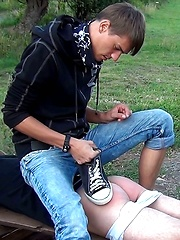 Spanking lesson for young boyfriend - Gay boys pics at Twinkest.com