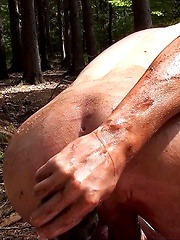 Boy creaming in forest - Gay boys pics at Twinkest.com