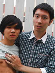 Kaoru lose his hard and the closer he gets to blowing his load - Gay boys pics at Twinkest.com