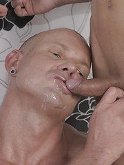 Older Hungarian Hunk Gets Fucked, Fisted & Jizzed By The Mendez Twins - Gay boys pics at Twinkest.com