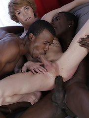 Cute Blond Twink Gets A Double-Penetration Cocktail & A Face-Load Of Black Jizz! - Gay boys pics at Twinkest.com
