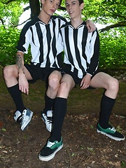 Football Forest Fun Gets Two Brit Boys Out Of Their Kits & Into Hot Raw Suck-&-Fuck Action!