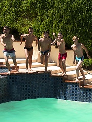 What better way to spend a hot summer afternoon then at a twink pool party - Gay boys pics at Twinkest.com
