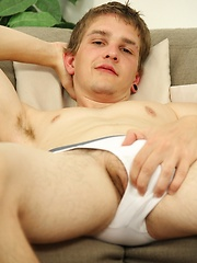 Beautiful college boy Sam Forte strokes his uncut dick. - Gay boys pics at Twinkest.com