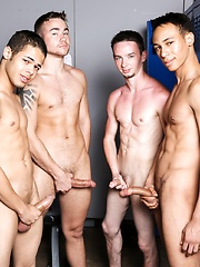 The boys are back in the locker room dressing down before the big party - Gay boys pics at Twinkest.com