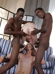 Two Horny White Bois Get Blacked - And One Gets His Cute, Hungry Ass Double-Dicked! - Gay boys pics at Twinkest.com