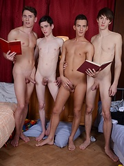 Nocturnal Emissions All Round As Four Horny Schoolboys Suck & Fuck All Night Long! - Gay boys pics at Twinkest.com