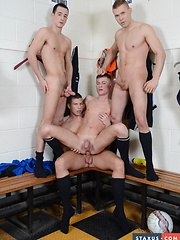 Cute Twink Gets Three Cocks For The Price Of One - Not To Mention Oodles Of Pent-Up Cum! - Gay boys pics at Twinkest.com