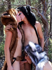 A Wilderness Threesome Fuck - Gay boys pics at Twinkest.com