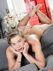 Blond Beauty Gets His Ass Pummelled By His Fuck-Buddy, Then Hammered By A Monster Dildo! - Gay boys pics at Twinkest.com