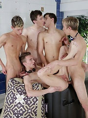 Scorchingly Hot Jacuzzi Threesome Turns Into A Five-Dicked Suck-&-Fuck-Fest! - Gay boys pics at Twinkest.com