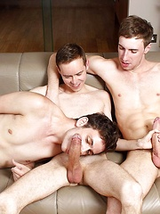 Steven Prior and Kayden Gray Give Nathan Gear Monster Cock DP - Gay boys pics at Twinkest.com