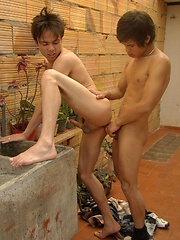 Patio Playtime Part One - Gay boys pics at Twinkest.com