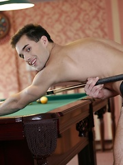 Forget Billiards. These Two Studs Wanna Empty Their Balls Into Yuri Adamov's pockets! - Gay boys pics at Twinkest.com