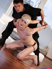 One Young Twink Can't Resist A Big-Dicked Cop In (Or Out Of) His Uniform! - Gay boys pics at Twinkest.com