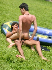 In A Hole With A Big Oar - Gay boys pics at Twinkest.com