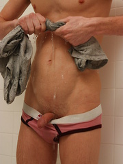 Ash Pisses In The Shower and Jerks Off - Gay boys pics at Twinkest.com